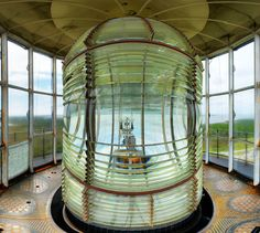 First order Fresnel Lens of Bodie Island Lighthouse. Outer Banks, NC.