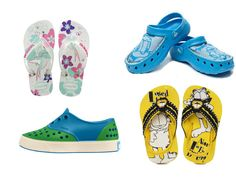 Monsoon Footwear for Kids: This article talks about funky footwear for your kids that they can sport in the monsoons.