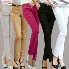 7184d2a1d56  Guoran  Business Suit Pants For Women 2017 Ladies Black White Red Formal Office  Work Trousers Pencil Pants Plus Size Pantalon