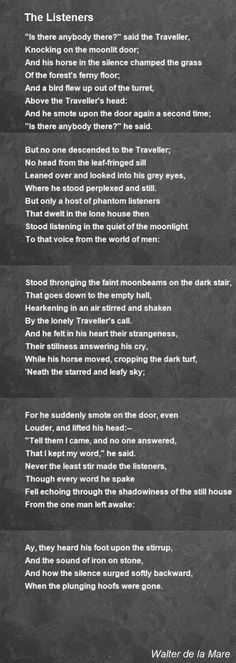 Walter De La Mare Poetry Study Brought To You By Charlotte Mason In Community Poetry Study Pinterest Charlotte Mason