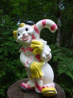 VTG Rubber Squeak Toy Clown