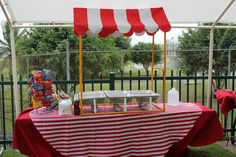 Carnival food booth