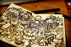 i wish my sketchbook was this cool!