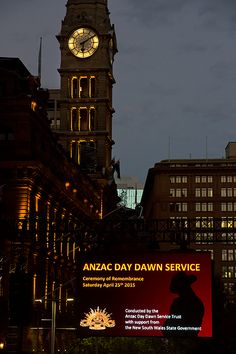 Sydney Clock On Anzac Day At Dawn by Miroslava Jurcik Anzac Day Australia, Big Ben, Dawn, Sydney, Beautiful Pictures, Pretty Pictures