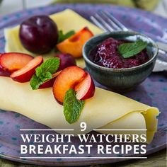 9 Weight Watchers Breakfast Recipes including these healthy crepes!  #weightwatchersrecipes #breakfastrecipes