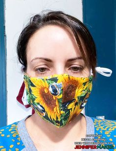 - Jennifer Maker - Homemade face mask made by Becca Carroll using the DIY Face Mask Pattern by JenniferMaker - Easy Face Masks, Homemade Face Masks, Diy Face Mask, Sewing Hacks, Sewing Crafts, Sewing Projects, Fabric Crafts, Crochet Projects, Filter