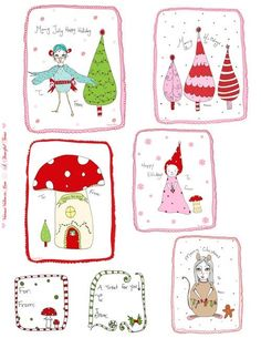 Christmas ~ Printable Gift Tags by marietta