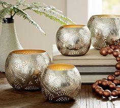 Salima Votive Candle Holder | Pottery Barn/ Perfect for your AYVO Tea Lights. #aycocandle #tealights