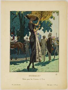 June 1920 Gazette du Bon Ton, Pierre Brissaud, Dress for the Race-track by Beer