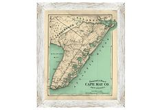 Mom - - I saw this just after I asked you where Cape May was!  Cape May County Map on OneKingsLane.com