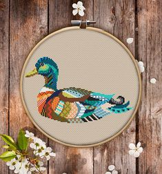 This is modern cross-stitch pattern of Mandala Duck for instant download.  You will get 7-pages PDF file, which includes: - main picture for your reference; - colorful scheme for cross-stitch; - list of DMC thread colors (instruction and key section); - list of calculated thread