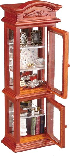 Glass Collectors Cabinet | Mary's Dollhouse Miniatures