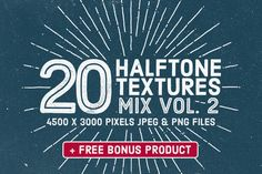 Check out 20 Halftone Textures Mix Vol. 2 by Gabor Monori on Creative Market