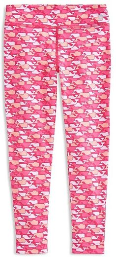 Vineyard Vines Girls' Whale Print Leggings - Little Kid