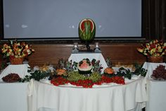 Wedding Fruit Table #simplydelicious