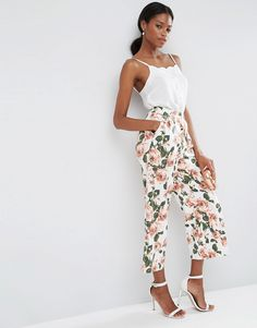 ASOS Wide Leg Floral Culottes Co-ord