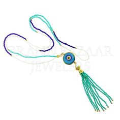 f1cc4dee4 Customize & Buy Evil Eye Fashion Jewelry Bijou Tassel Necklace - GBJ3NC3624-1  Online at Grand Bazaar Jewelers