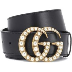 Gucci Embellished Leather Belt (210 KWD) ❤ liked on Polyvore featuring accessories, belts, black, leather belts, embellished belt, gucci belt and gucci