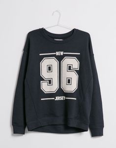 BSK number sweatshirt - Sweatshirts - Bershka United Kingdom