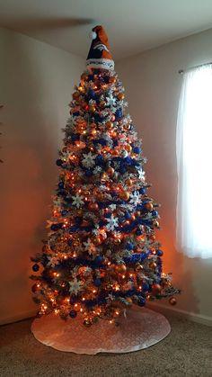 Denver Broncos Christmas tree