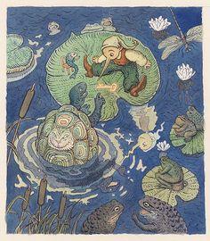 Peter Kľúčik - Frontispice ku knihe Zlatý kľúčik Watercolour, Ink, Books, Painting, Inspiration, Pen And Wash, Biblical Inspiration, Watercolor Painting, Libros
