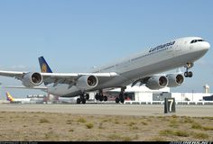 Close up with a Lufthansa A340-600 at LAX