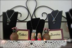 Jewelry for Mother and Grandma and Matryoshka doll babies    Available at Heidi's Cottage Country Home Decor and Gift Store, Dunellen, NJ. www.heidiscottage.com