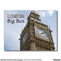 Big Ben Clock London England Postcard