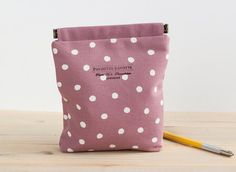 Charger case Cosmetic pouch Ditty bag Make-up by PochetteGavotte