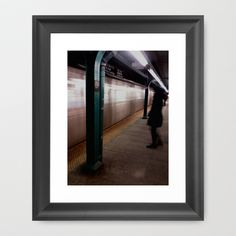 Subway rolling in Framed Art Print by Lisa De Rosa-Essence of Life Photography - $37.00