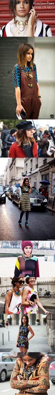 Maxi colares foi um tendência no inverno e continua no verão.2013