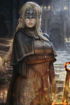 The firekeeper from Dark Souls reward of the May pack. The pose wasn't that great, but I didn't want to change too much of it. I went a bit overdetailed with her clothing and it was time consuming. Dark Fantasy Art, Fantasy Art Women, Fantasy Girl, Fantasy Artwork, Dark Souls 3, Fantasy Characters, Female Characters, Dark Souls Fire Keeper, Ornstein Dark Souls