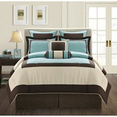 Brown And Blue Bedding Sets Turquoise And Brown Bedroom Modern