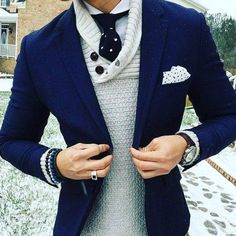 Layer a sweater under a blazer for added warmth during those transitional seasons like we're going through now! Not warm but not as cold as winter has been! :P