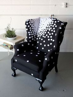 Constellation Wingaback (by esty seller SpruceHome); the color is a bit much, but I like the concept of the print