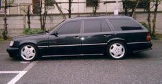 W124 Wagon, AMG body kit, AMG Monoblock II rims.