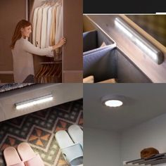 Battery operated motion lights are a great economical way to get the best out of dark places in your home such as the back of kitchen units, the attic, the shed, wardrobes and understairs storage. Kitchen Units, Dark Places, Home Lighting, Google, Shed, Bathtub, The Unit, Lights, Storage