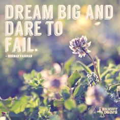 """Dream big and dare to fail."" ~Norman Vaughan"