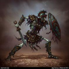 Skeletons for Godsand game by Grafit, via Behance