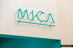 Creative Mica, Typography, Lettering, and Signage image ideas & inspiration on Designspiration Shop Signage, Wayfinding Signage, Signage Design, Hotel Signage, Storefront Signage, Retro Signage, Office Signage, Office Branding, Lettering