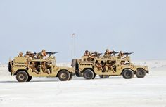 Royal Bahraini Army M1123 HMMWVs of the Special Forces.