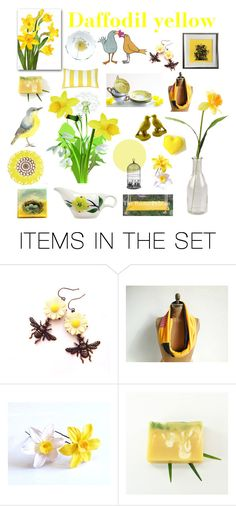 """""""Daffodil yellow"""" by belinda-evans ❤ liked on Polyvore featuring art"""