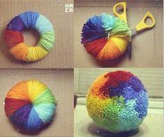 Tutos et DIY faire des pompons en laine - crafts with yarn Account Suspended