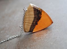 Wooden Necklaces – UNIQUE necklace wood and resin – a unique product by TheDreamcatchers on DaWanda