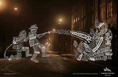 Firemen Print Typography Ad