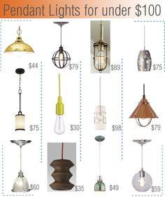 Pendant lights for under $100