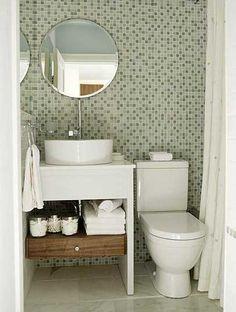 banheiros pequenos e modernos