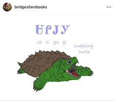 Cherokee Language, Snapping Turtle, Fictional Characters, Common Snapping Turtle, Cherokee, Fantasy Characters