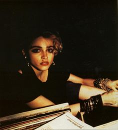 Madonna in the DJ booth in 1983