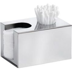 Stainless Steel Cotton Swab & Pad Dispenser